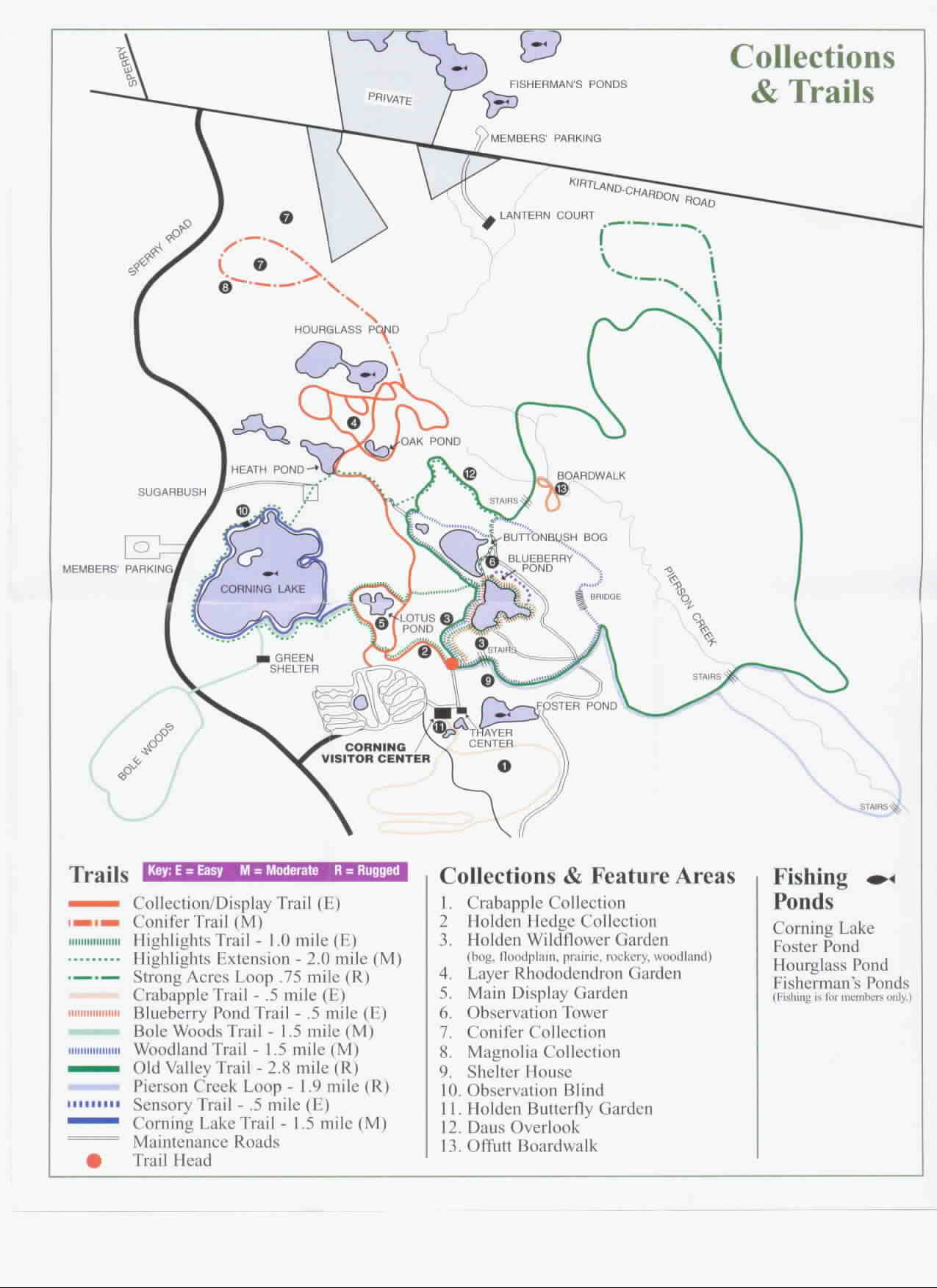 Holden Arboretum Trail Map and Collections