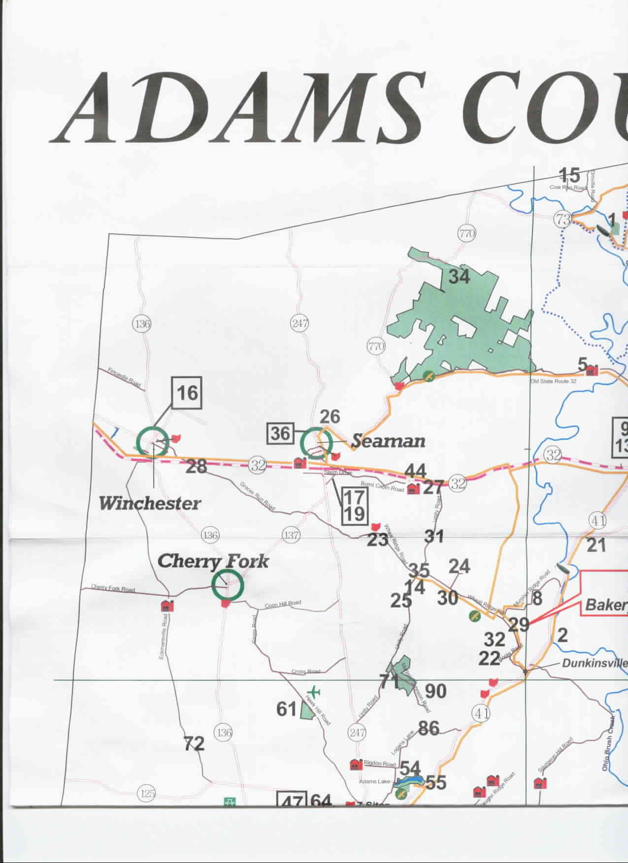Adams County Parks map 1