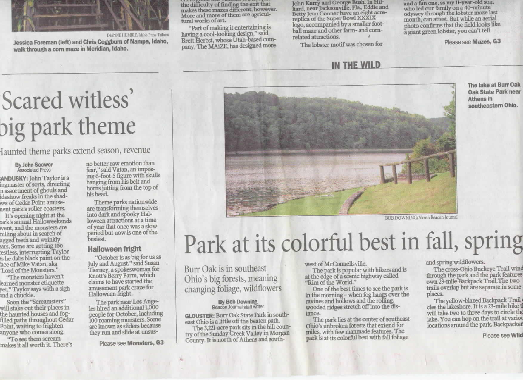 Akron Beacon Journal Burr Oak State Park Part 1