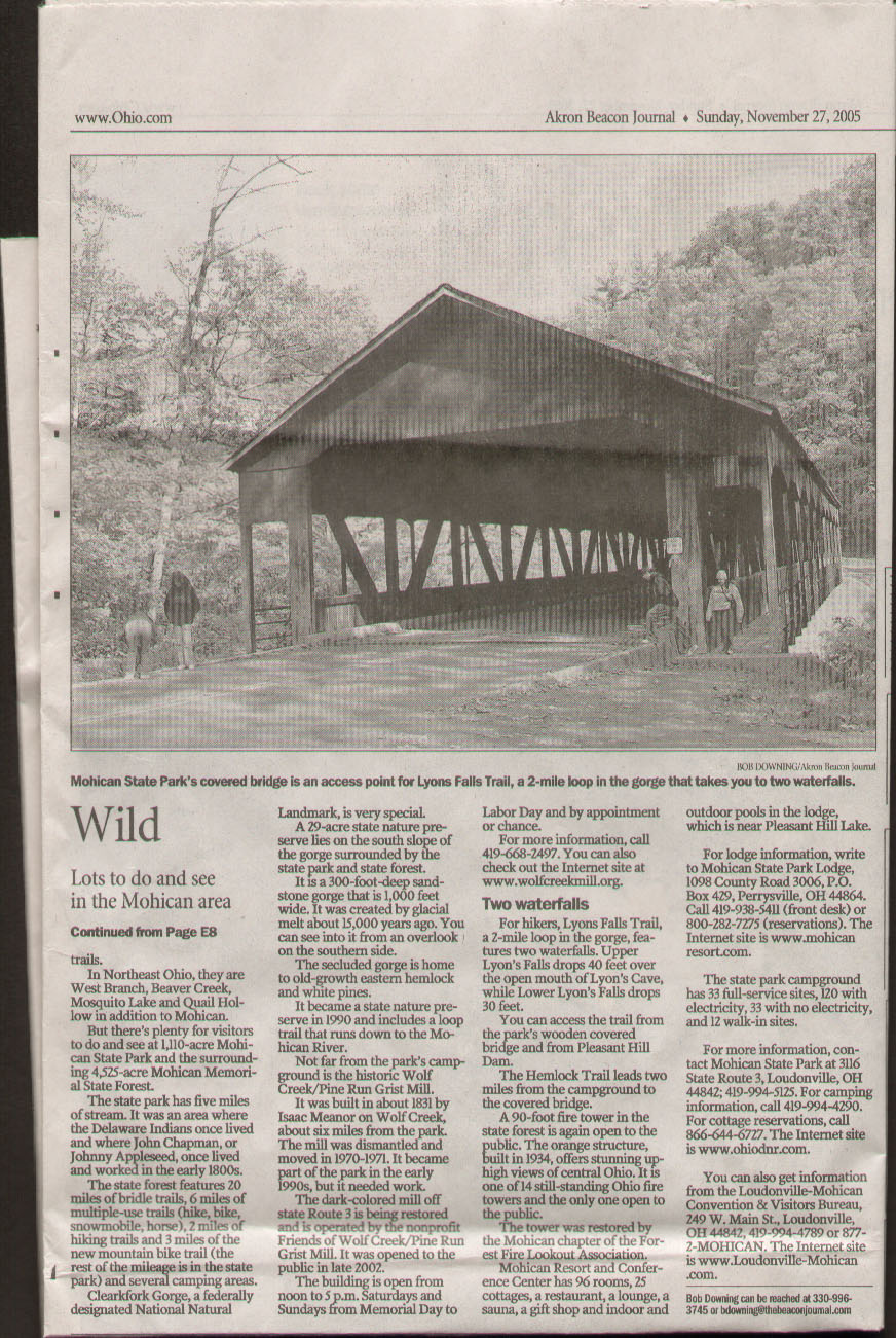 Akron Beacon Journal Mohican State Park Part 2