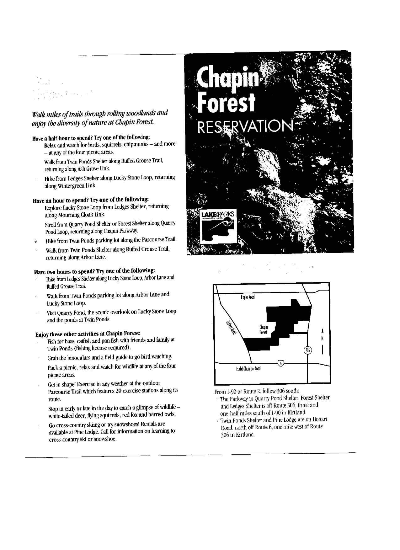 Chapin Forest Reservation Brochure Part 1