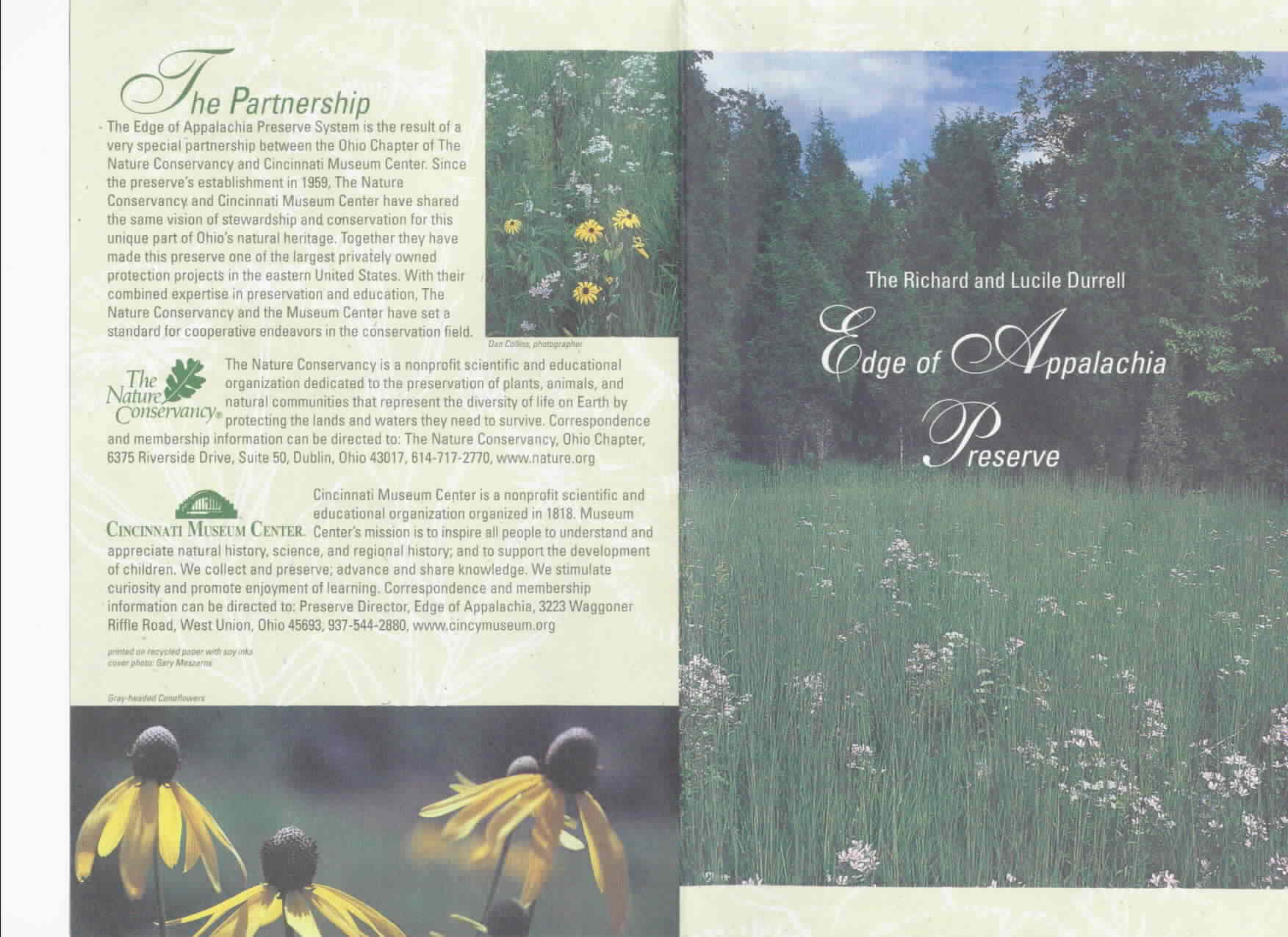 Edge of Appalachia Preserve Brochure 1