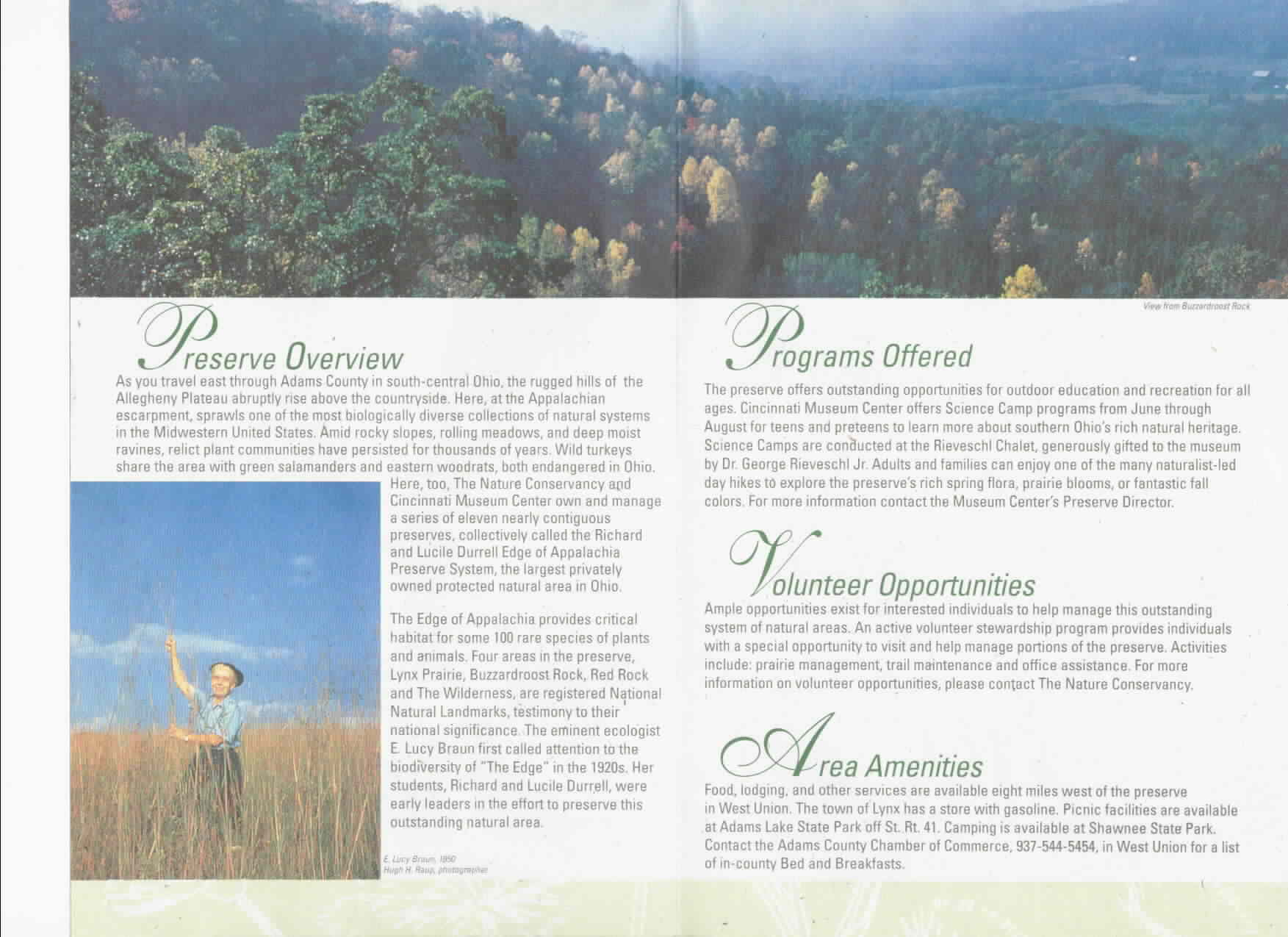 Edge of Appalachia Preserve Brochure 2