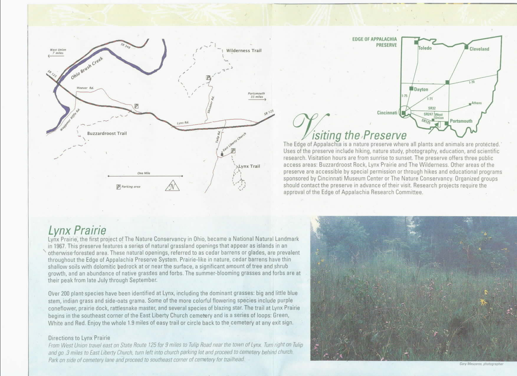 Edge of Appalachia Preserve Brochure 3