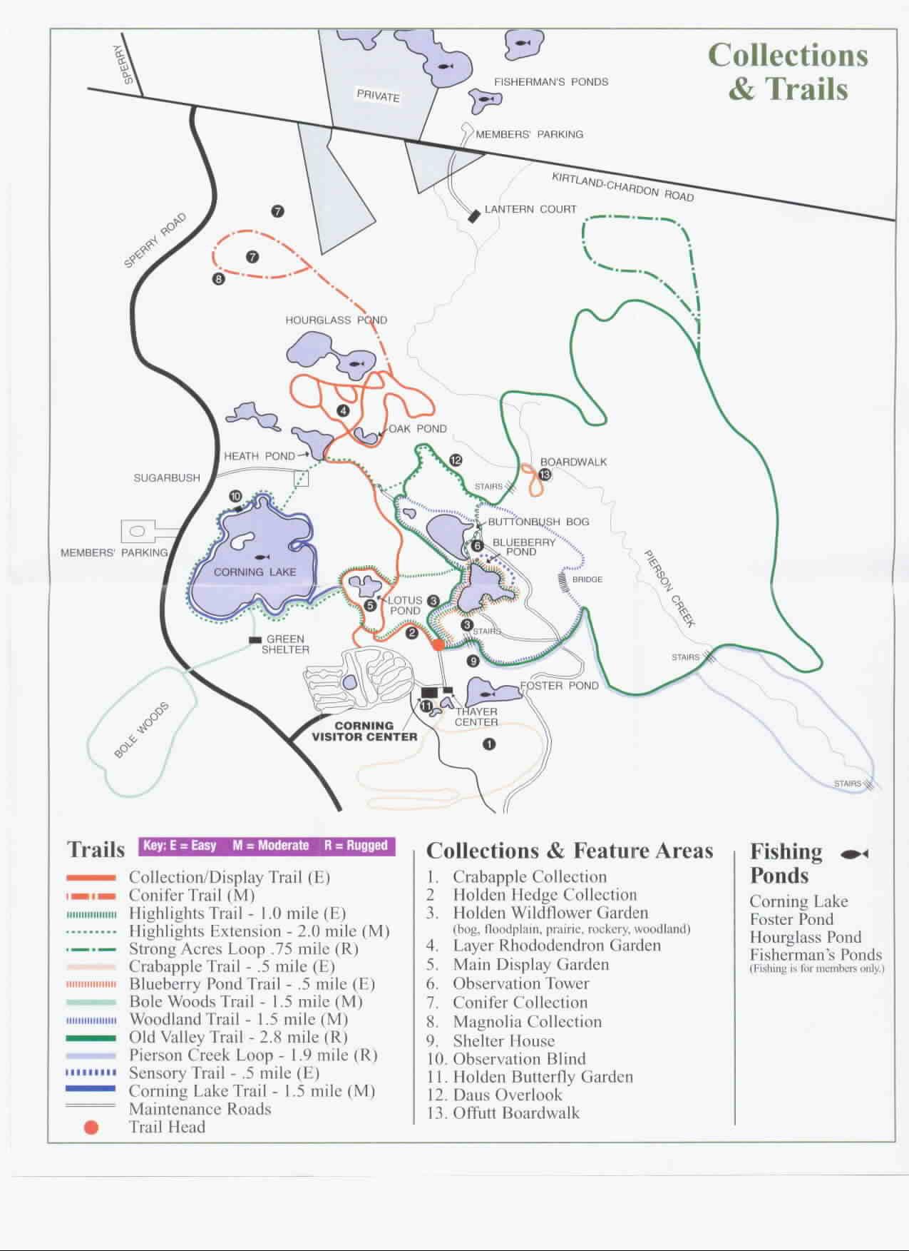 Holden Arboretum Trail Map
