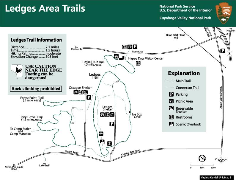 Virginia Kendall Unit Trails Map