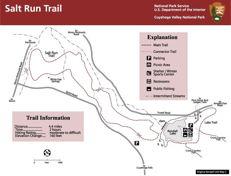 Salt run Trail Map