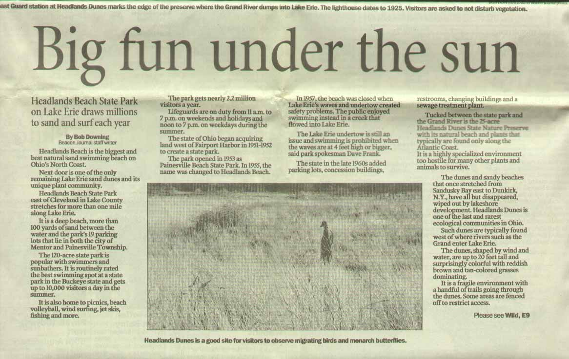 Akron Beacon Journal Headland Dunes Preserve 1