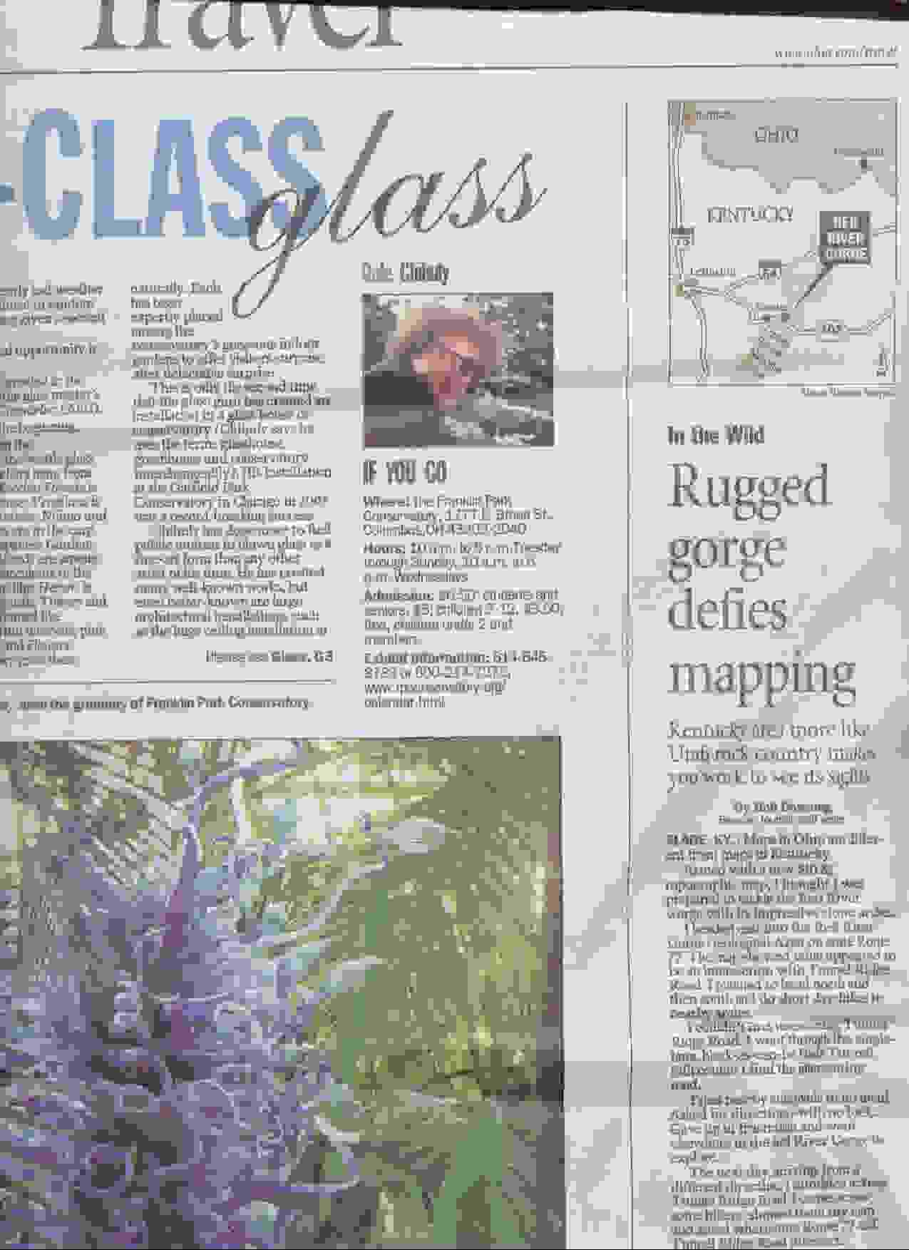Akron Beacon Journal Red River Gorge Page 1