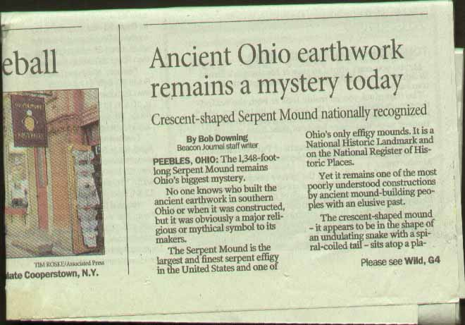 Serpent Mound Park Akron Beacon Journal Part 1
