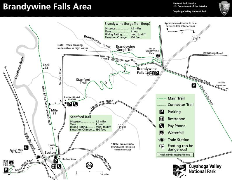 Brandywine Falls Cuyahoga Valley National Park Hiking Pictures