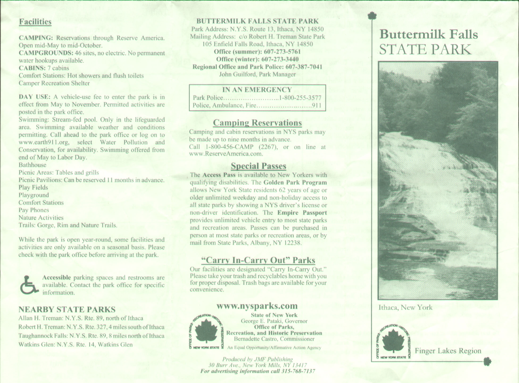 Buttermilk State Park Brochure Part 2