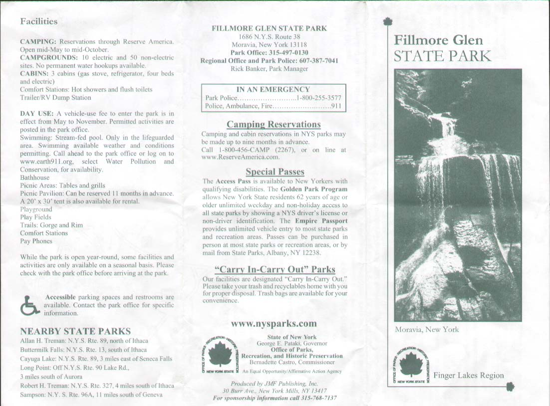 Fillmore Glen State Park Brochure Part 2