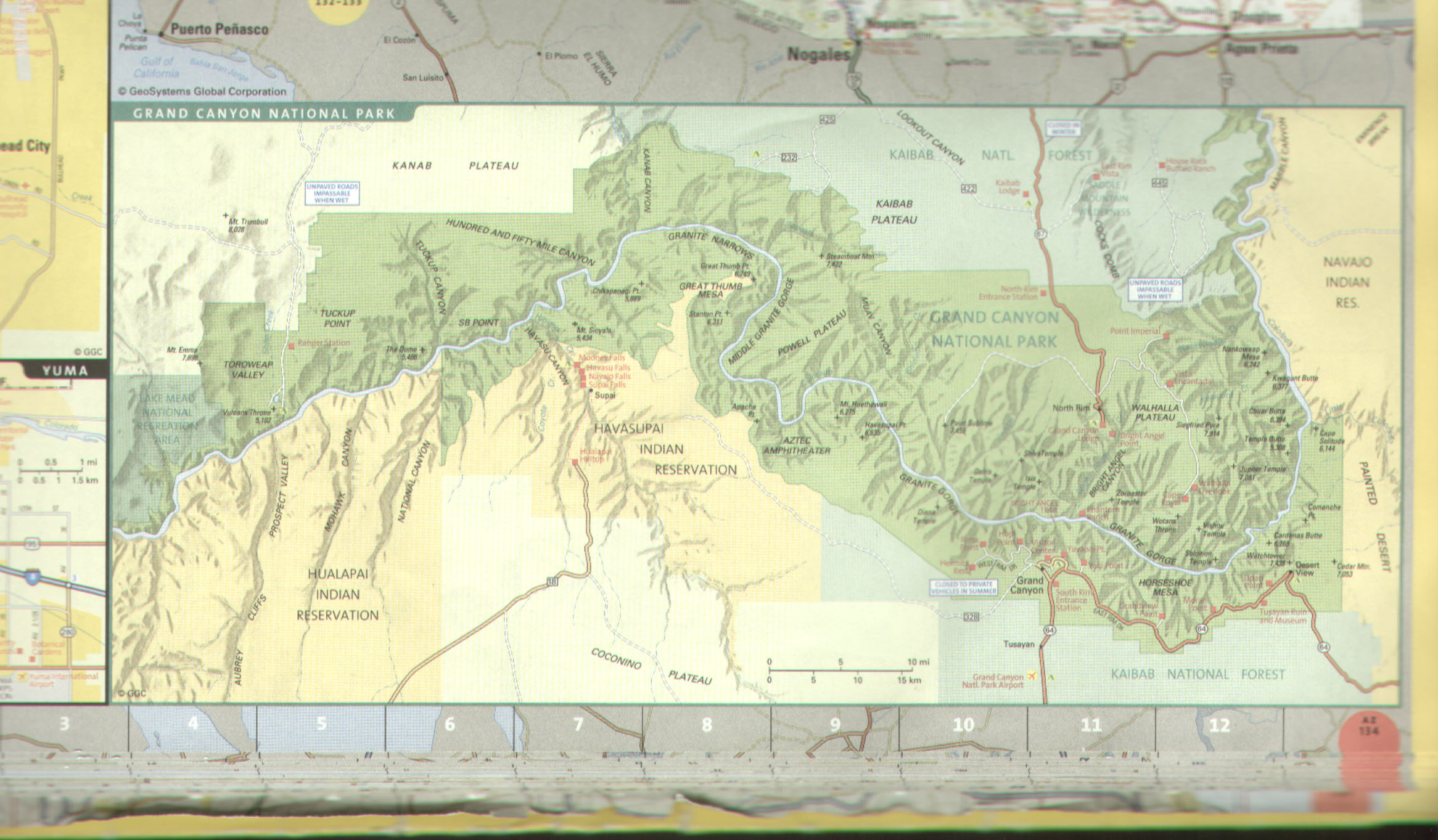 Havasupai Indian Reservation Location Map 