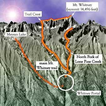 Mount Whitney Trails Map