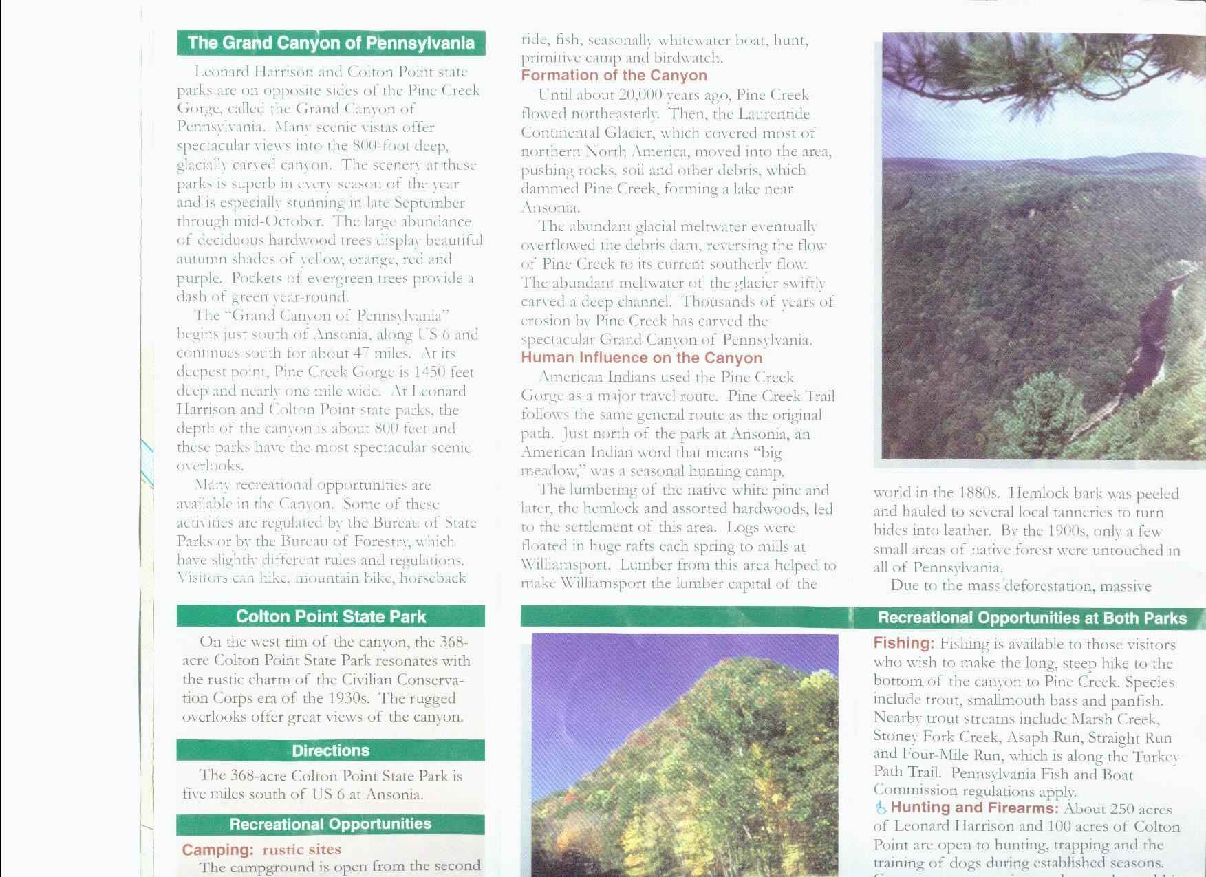 Pennsylvania Grand Canyon Brochure Part 1