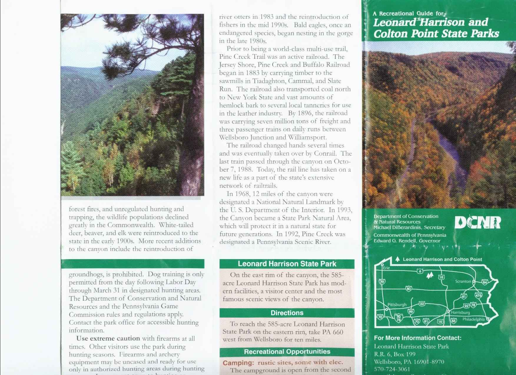 Pennsylvania Grand Canyon Brochure Part 2