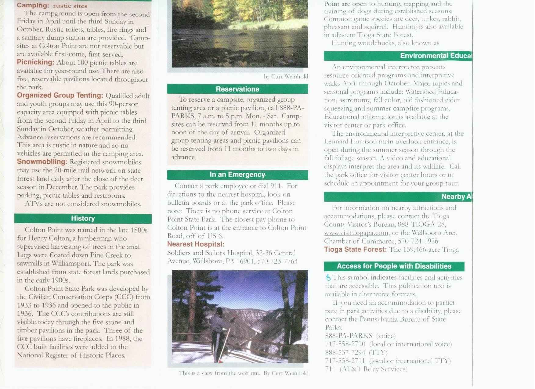 Pennsylvania Grand Canyon Brochure Part 3