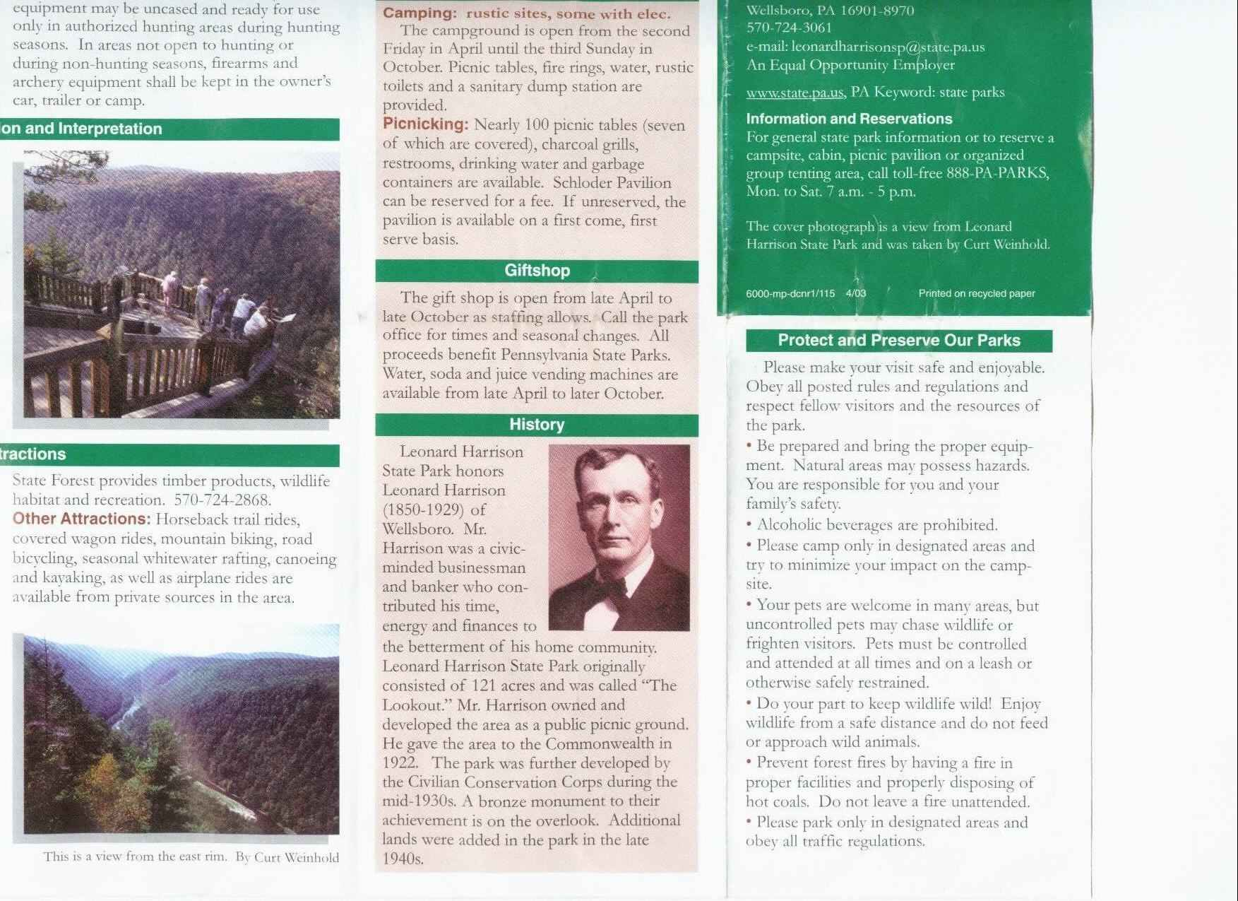 Pennsylvania Grand Canyon Brochure Part 4