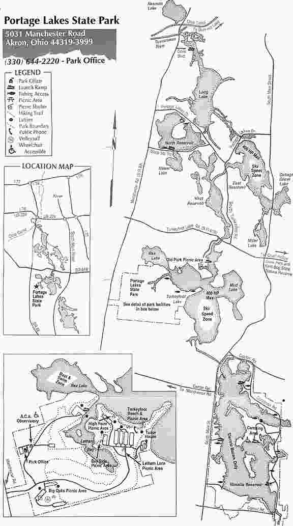 Portage Lakes State Park Trail Map