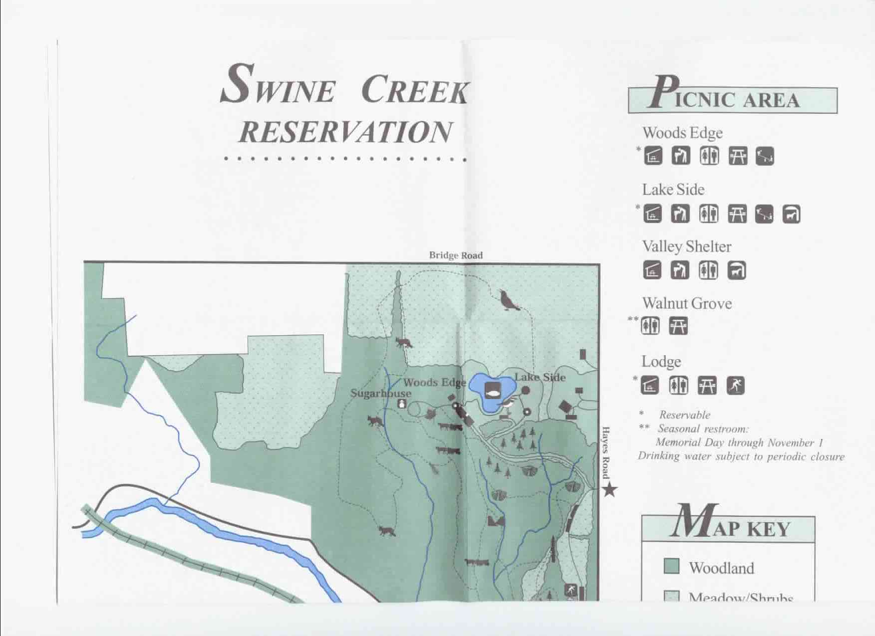 Swine Creek Reservation Trail Map Part 1