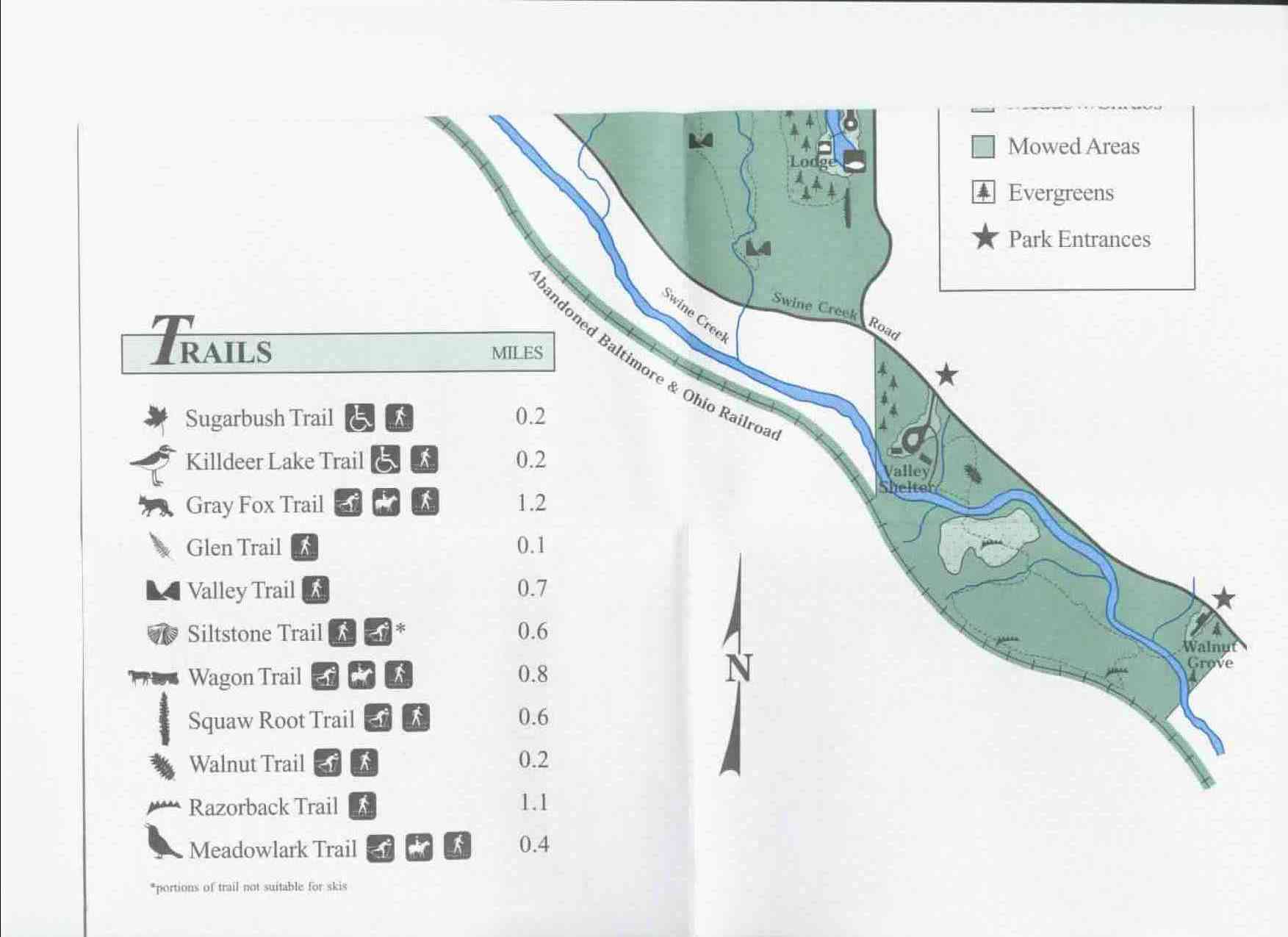 Swine Creek Reservation Trail Map Part 2