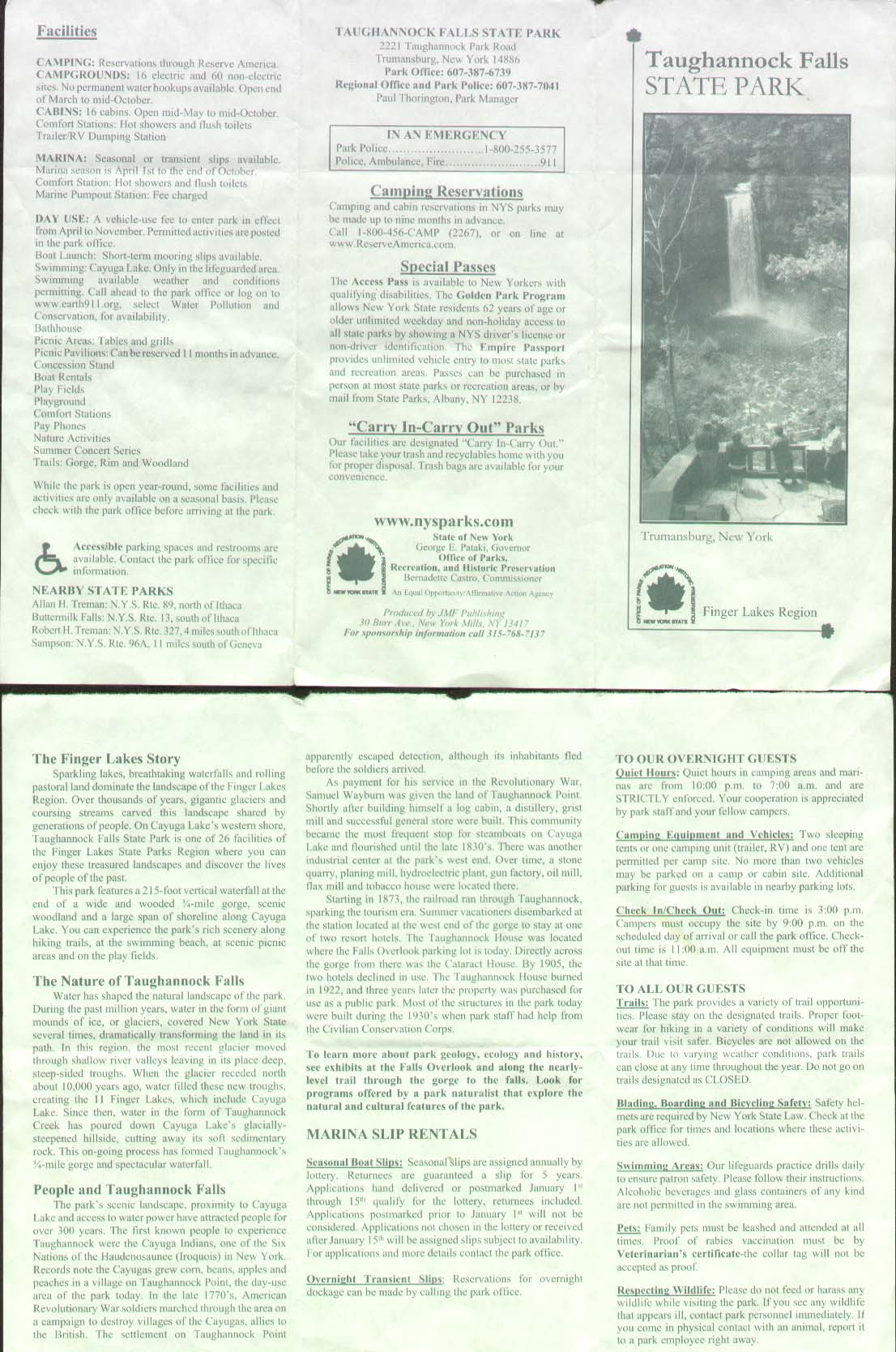 Taughannock Falls State Park Trail Brochure Part 2