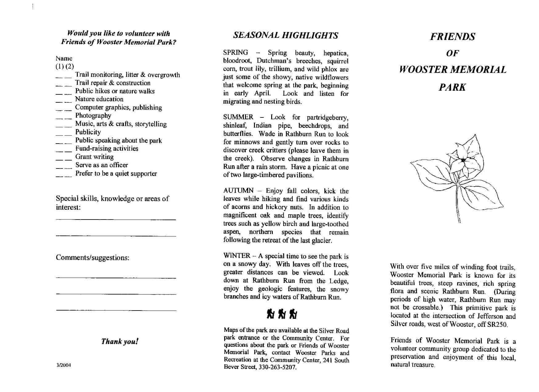 Wooster Memorial Park Brochure Part 2